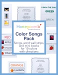 Preschool Color Songs Pack Honeycomb Preschool on Etsy. Teach preschool colors with songs and activities.